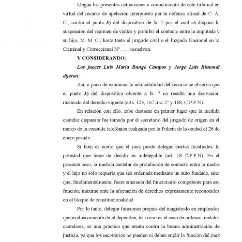 """""""Fallo de la Cámara Criminal de la Cap. Fed: s/Delegación de tareas al Secretario por parte del Juez""""."""