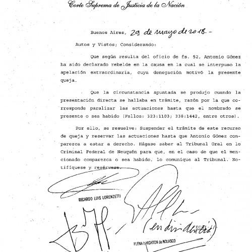 """"""" Fallo de la S.C.J.N.: -materia penal- recurso de queja con acusado rebelde""""."""