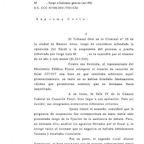 Fallo de la C.S.J.N. -materia penal-: ¿hasta que etapa procesal se puede pedir la probation?