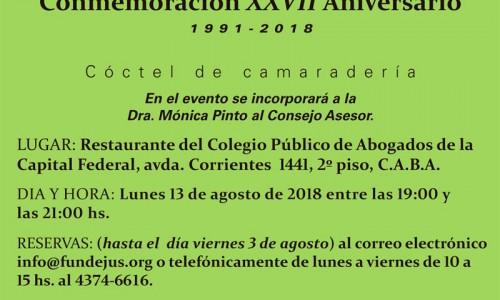 """""""CONMEMORACIÓN XXVII ANIVERSARIO"""""""