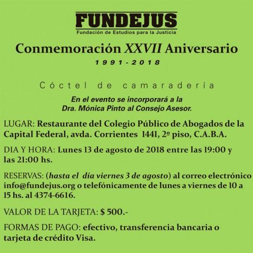 """""""Conmemoración XXVII Aniversario""""."""