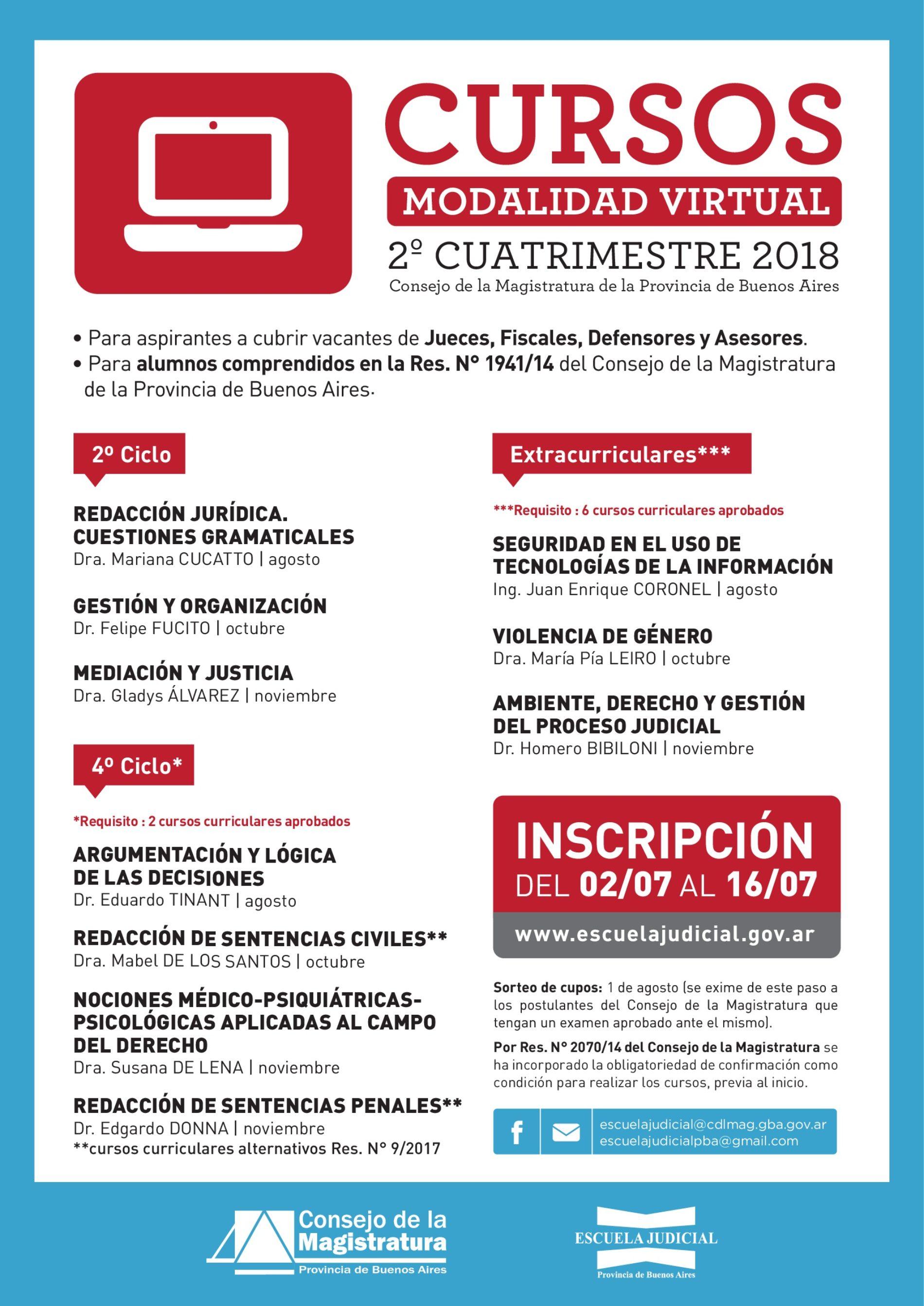 «Escuela Judicial Bonaerense: cursos de capacitación»