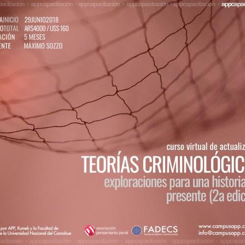 «Nuevo curso virtual. Teorías criminológicas.»