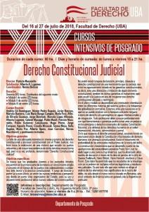 XIX Cursos Intensivos de Posgrado - Derecho Constitucional Judicial