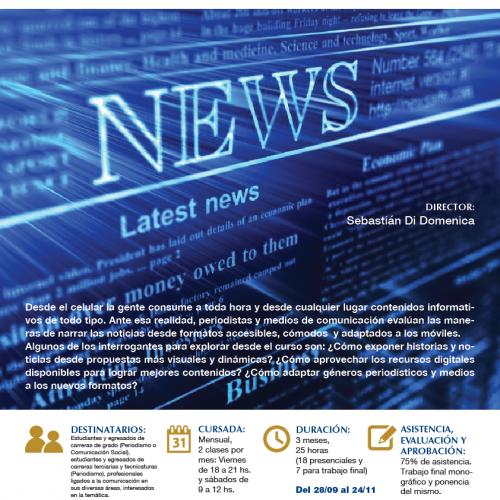 Curso de perfeccionamiento en Periodismo Digital: renovadas maneras de contar las noticias