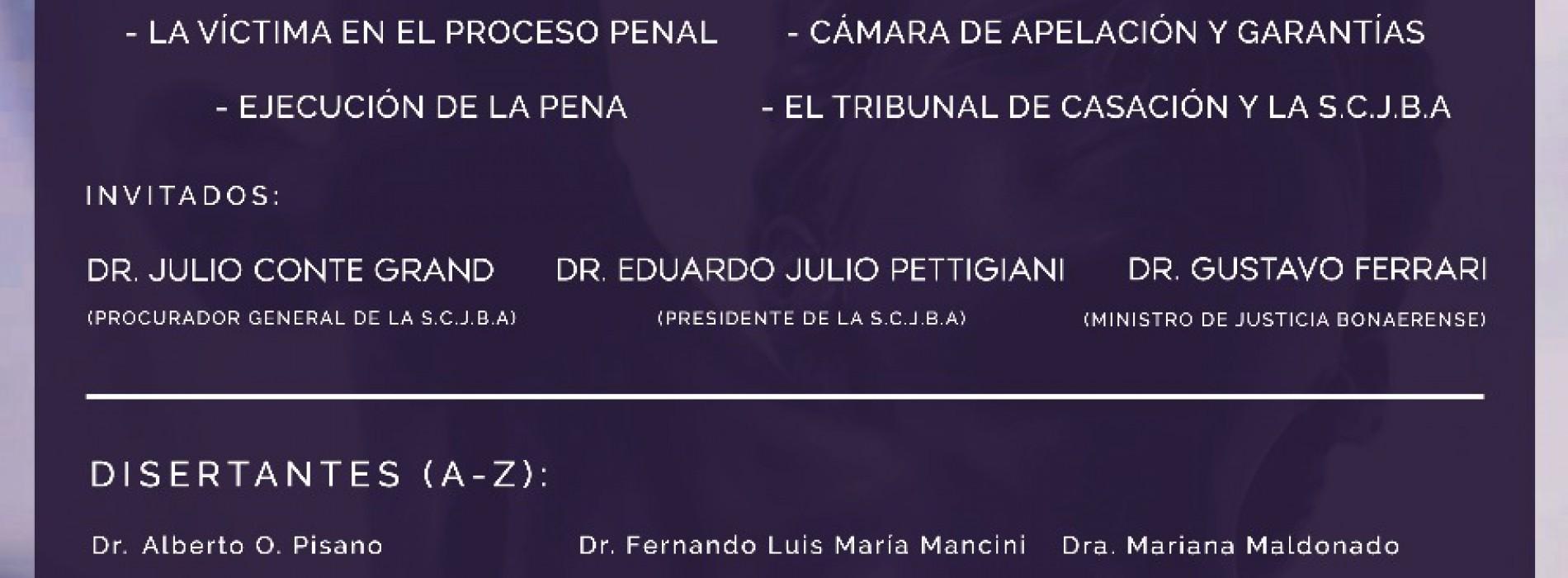 """""""20° ANIVERSARIO DE LA IMPLEMENTACIÓN DEL SISTEMA ACUSATORIO EN LA PROVINCIA DE BUENOS AIRES (1998-2018)"""""""