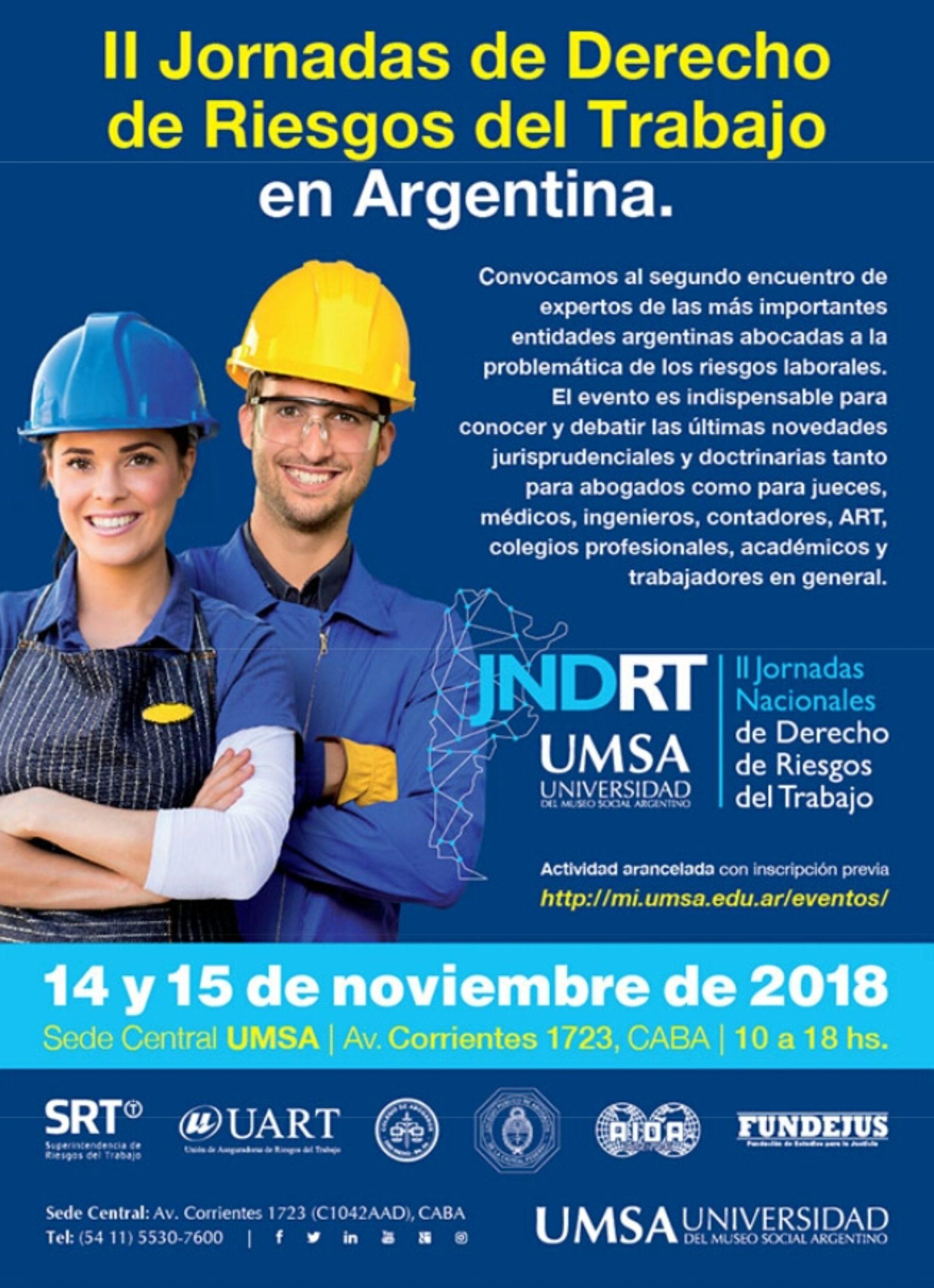 """""""II Jornadas de Derecho de Riesgos del Trabajo en Argentina"""""""