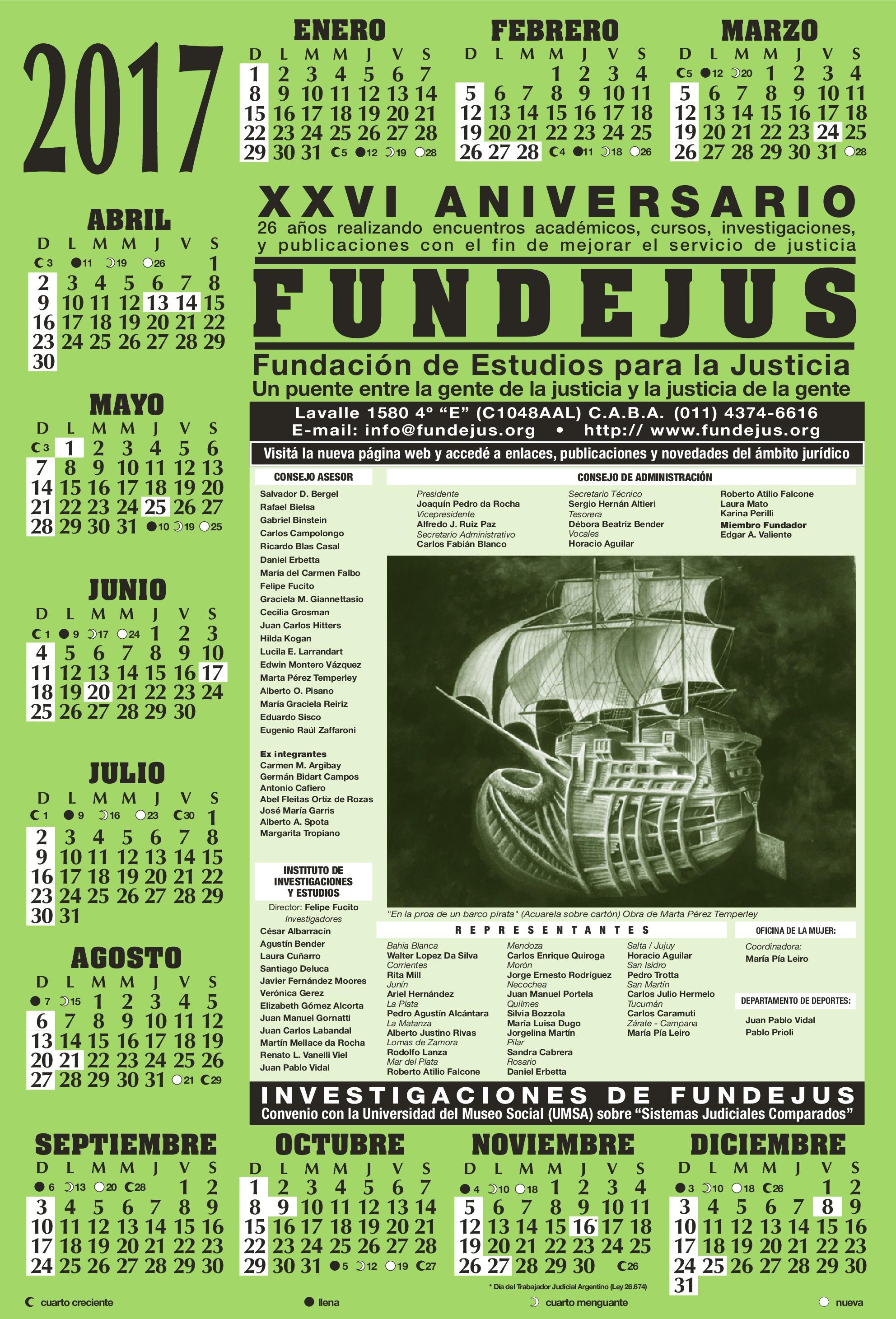 almanaque 2017 fundejus