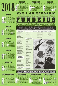 Fundejus -Calendario 2018