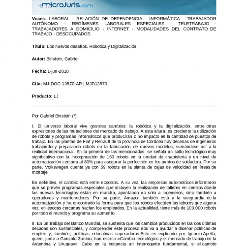 """""""Los nuevos desafíos. Robótica y Digitalización""""."""