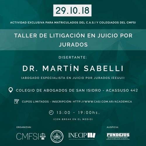 """""""TALLER DE LITIGACIÓN EN JUICIO POR JURADOS"""""""