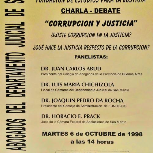 """""""Charla – Debate: CORRUPCIÓN Y JUSTICIA"""""""