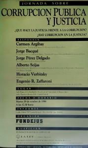 corrupcion publica y justicia. octubre 1996