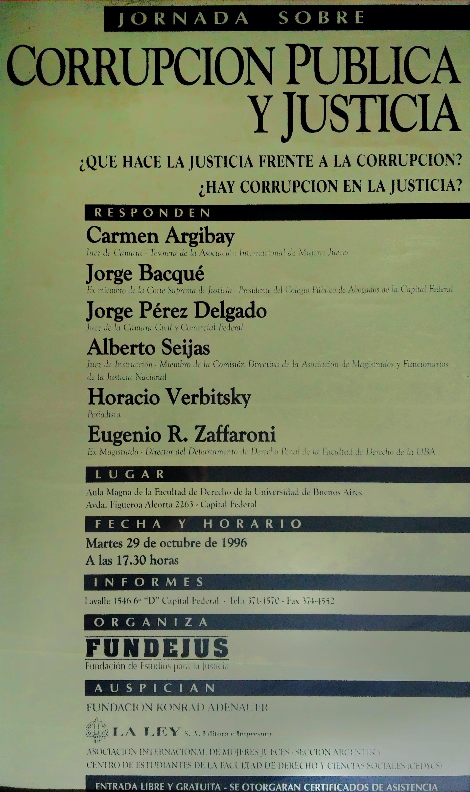 «Corrupción Pública y Justicia»