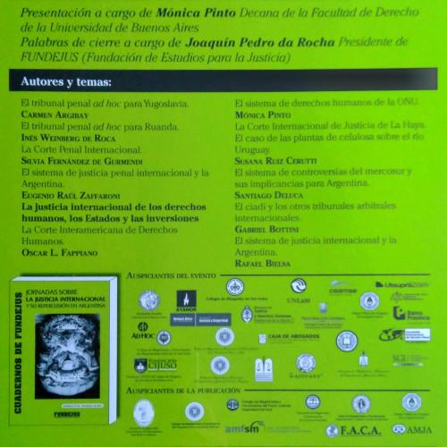 «Cuaderno 10: Jornadas sobre la Justicia Internacional y su repercusión en Argentina»