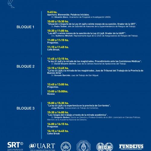«II Jornadas de Derecho de Riesgos del Trabajo en Argentina» PROGRAMACIÓN: Miércoles 14 y jueves 15 de noviembre.  Auspicia: FUNDEJUS.