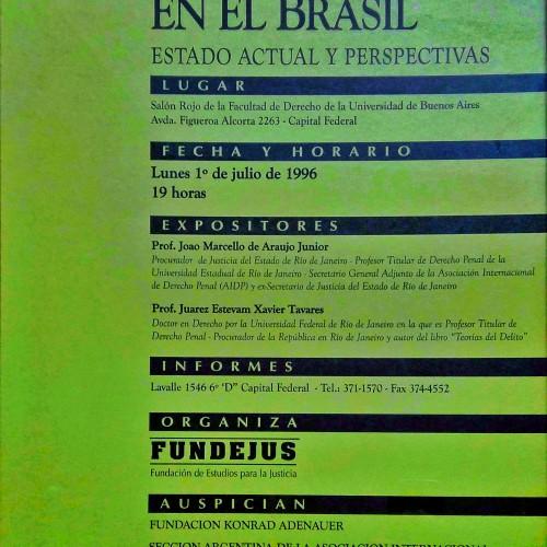 «Conferencia y debate: El Ministerio Público en el Brasil. Estado actual y perspectivas»