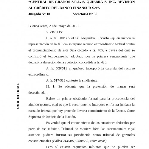 Jurisprudencia Cámara Comercial Justicia Nacional (Sala C): -Novedoso- «Escrito digital mal subido no existe».