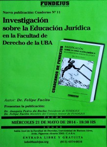 investigacion sobre la educacion juridica en la facultad de derecho de la uba