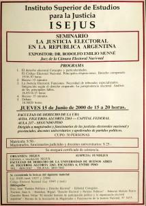isejus. seminario. la justicia electoral en argentina