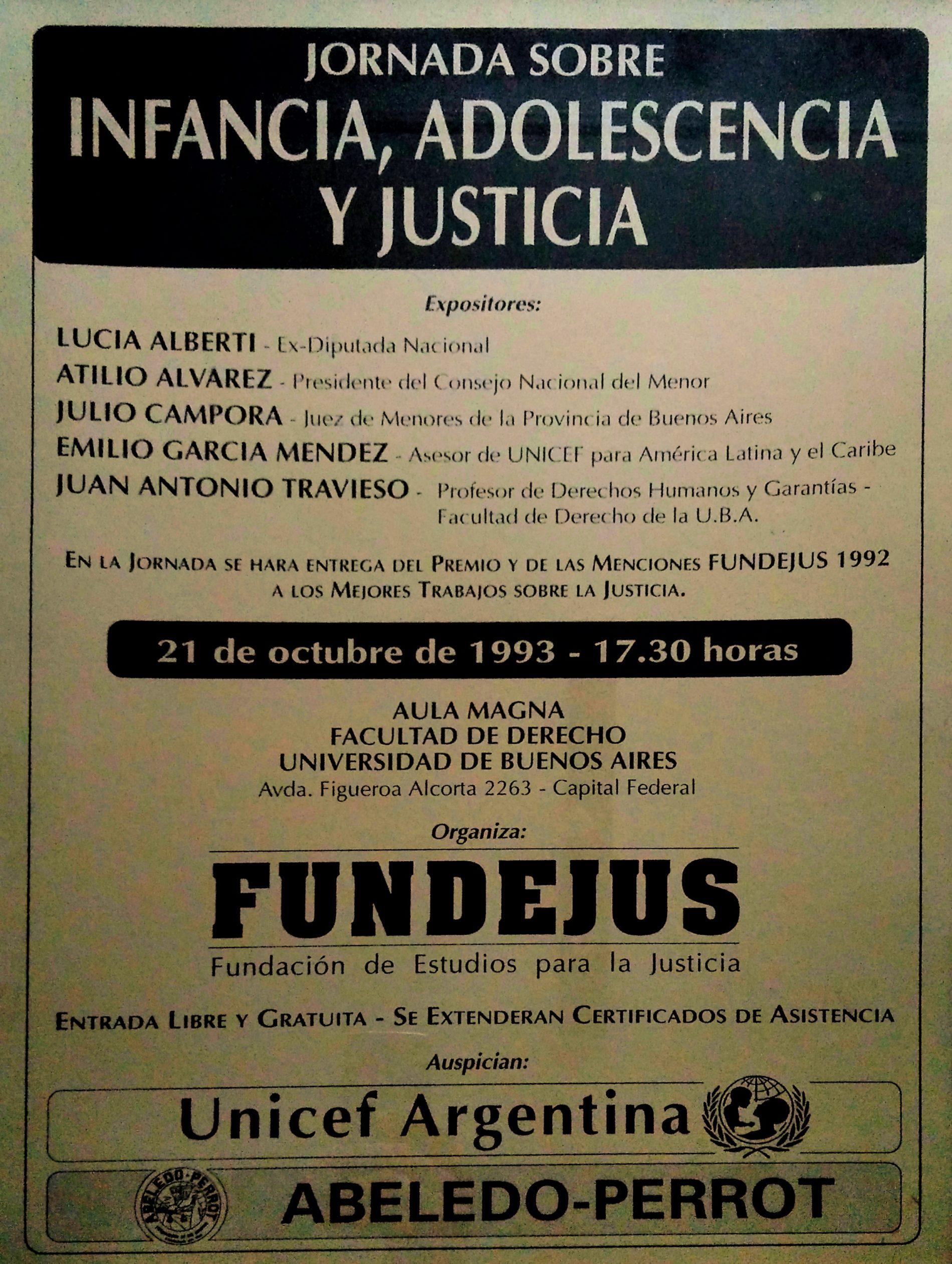 «Jornada sobre INFANCIA, ADOLESCENCIA Y JUSTICIA»