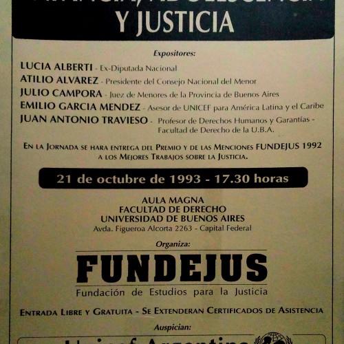 """""""Jornada sobre INFANCIA, ADOLESCENCIA Y JUSTICIA"""""""