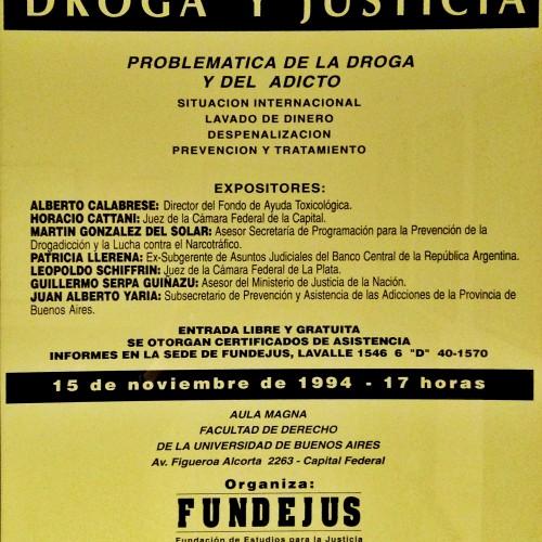 """""""Jornada sobre: DROGA Y JUSTICIA"""""""