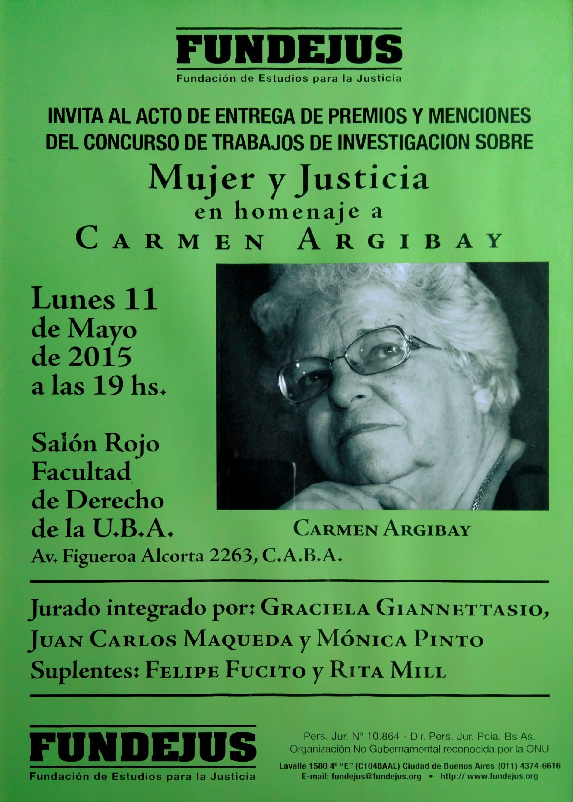 «MUJER Y JUSTICIA. en homenaje a CARMEN ARGIBAY»