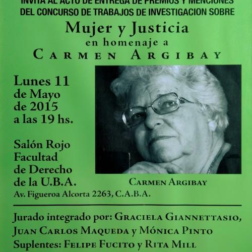 """""""MUJER Y JUSTICIA. en homenaje a CARMEN ARGIBAY"""""""