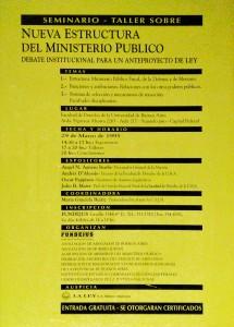 nueva estructura del ministerio publico