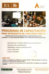 programa de capacitacion para integrantes del minsiterio publico