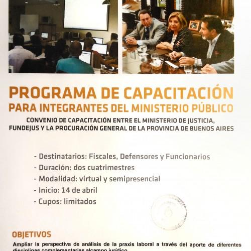 «PROGRAMA DE CAPACITACIÓN PARA INTEGRANTES DEL MINISTERIO PÚBLICO»