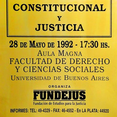 «Jornada sobre: REFORMA CONSTITUCIONAL Y JUSTICIA»