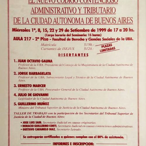 «Seminario: EL NUEVO CÓDIGO CONTENCIOSO ADMINISTRATIVO Y TRIBUTARIO DE LA CIUDAD AUTÓNOMA DE BUENOS AIRES»