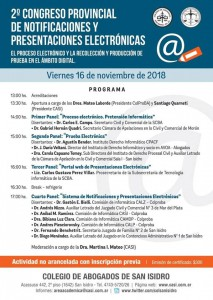 CONGRESO DE NOTIFICACIONES ELECTRONICAS