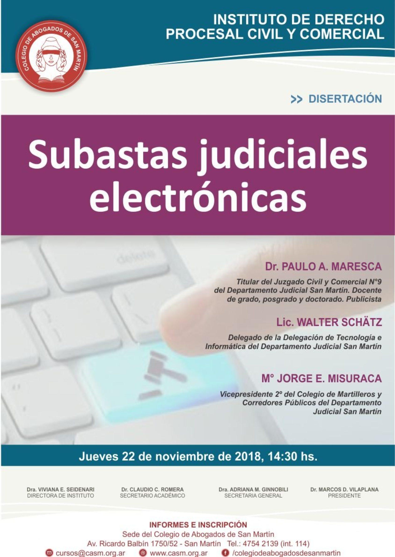 «Subastas judiciales electrónicas»