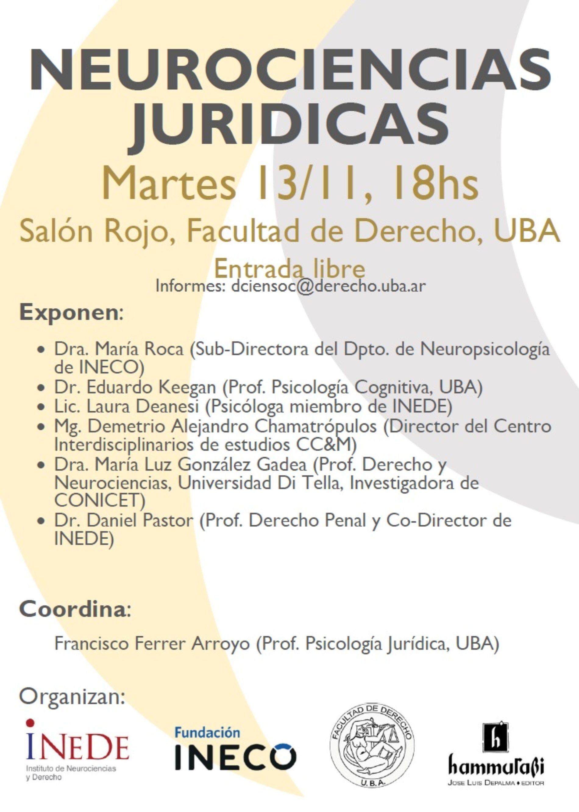 «Neurociencias Jurídicas en la UBA»