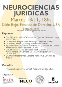 Neurociencias Juridicas Nov 18 UBA Derecho