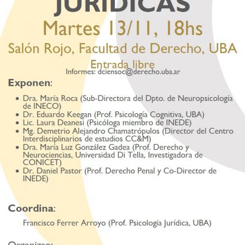 """""""Neurociencias Jurídicas en la UBA"""""""