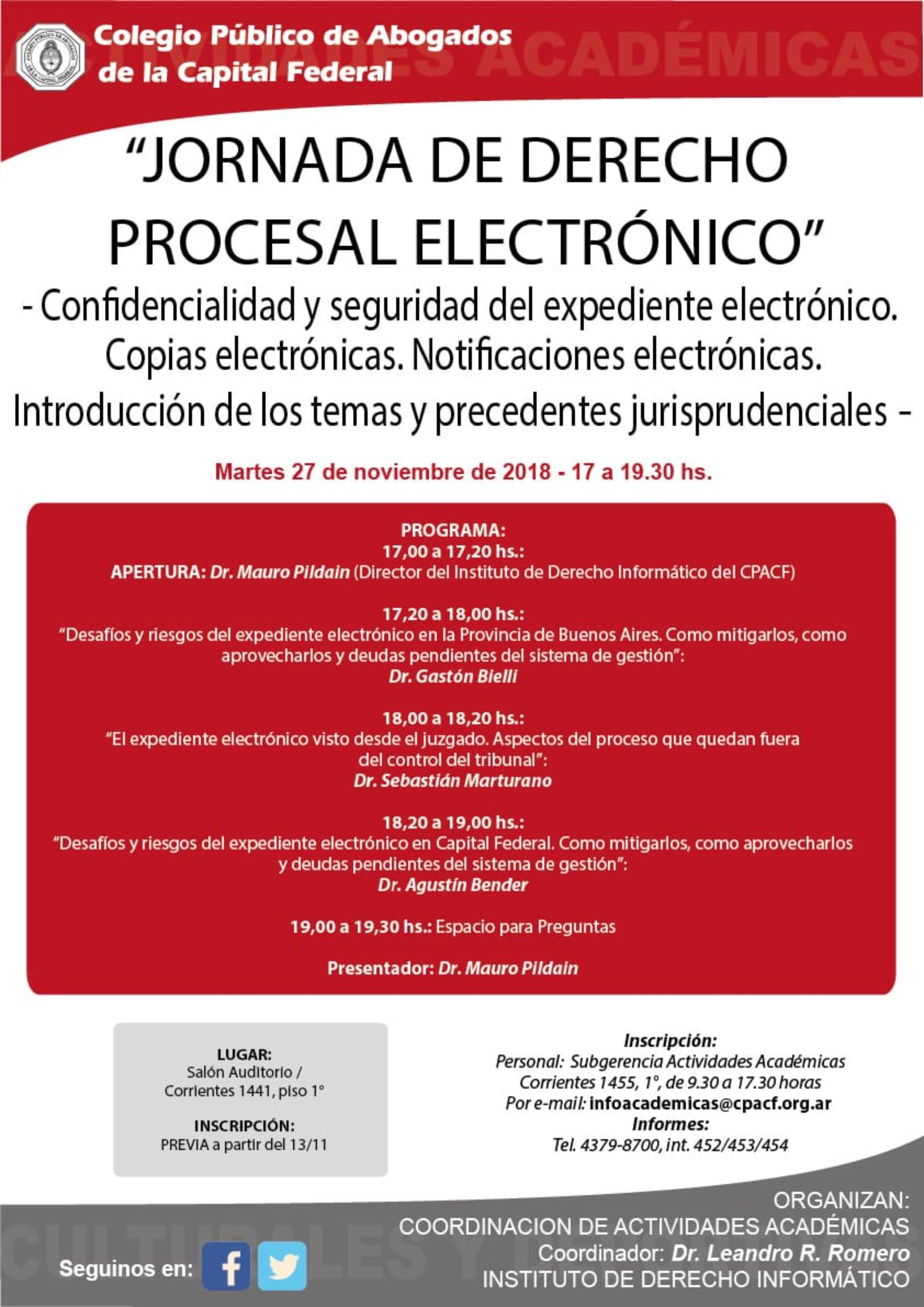 «JORNADA DE DERECHO PROCESAL ELECTRÓNICO»