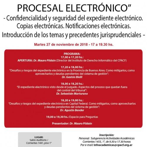 """""""JORNADA DE DERECHO PROCESAL ELECTRÓNICO"""""""