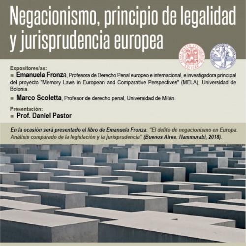 """""""Negacionismo, principio de legalidad y jurisprudencia europea"""""""