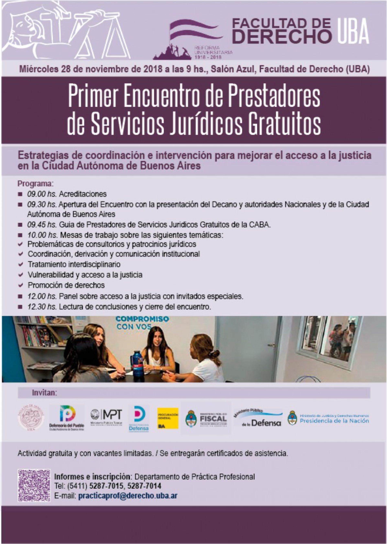 «Primer encuentro de Prestadores de Servicios Jurídicos Gratuitos»