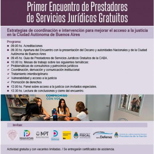 """""""Primer encuentro de Prestadores de Servicios Jurídicos Gratuitos"""""""