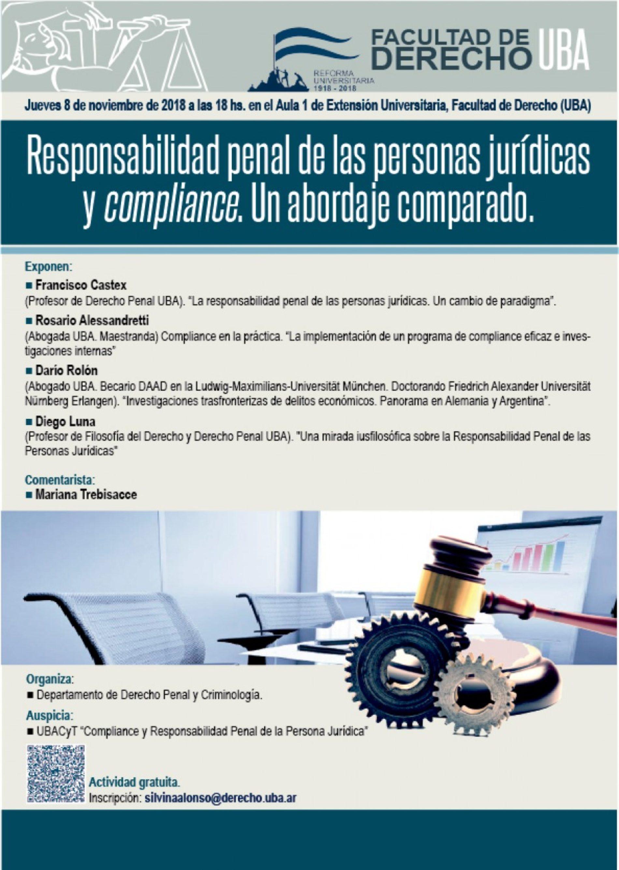 «Responsabilidad penal de las personas jurídicas y compliance. Un abordaje comparado»