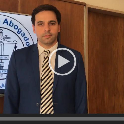 """""""Pasado, presente y futuro del proceso penal"""". Salutación del Presidente del Colegio de Abogados de Azul, Dr. Gastón M. M. Argeri."""
