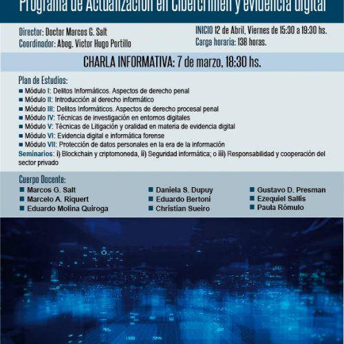 Charla informativa del Programa de actualización en Cibercrimen y evidencia digital.