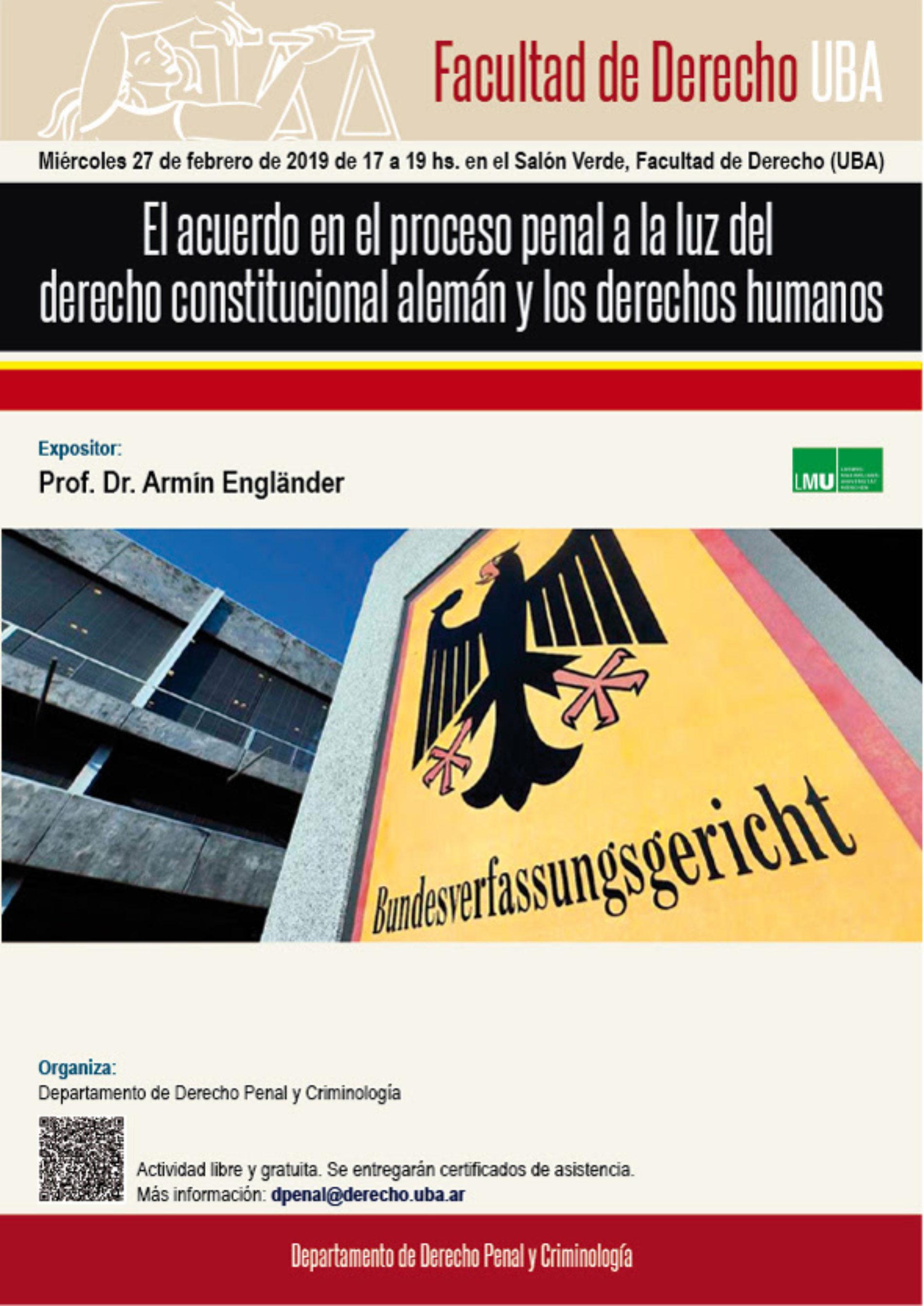 «El acuerdo en el proceso penal a la luz del derecho constitucional alemán y los derechos humanos»