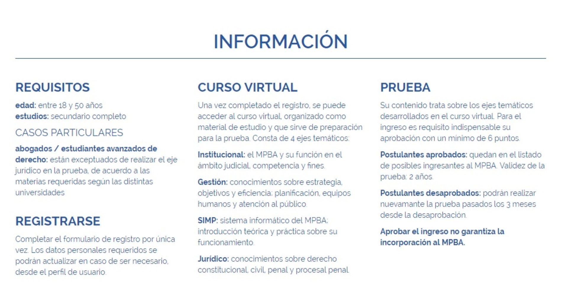 MINISTERIO PÚBLICO DE LA PROVINCIA DE BUENOS AIRES. SE ENCUENTRA ABIERTA LA INSCRIPCIÓN – INGRESO DE EMPLEADOS ADMINISTRATIVOS.