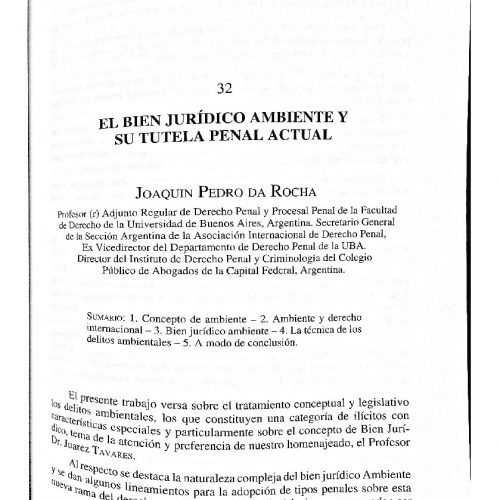 """""""EL BIEN JURÍDICO AMBIENTE Y SU TUTELA PENAL ACTUAL"""""""